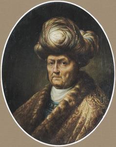 Tronie van een oude man met een tulband