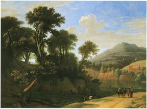 Zuidelijk landschap met pratende reizigers