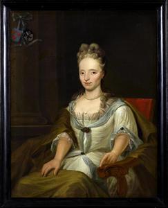 Portret van Maria Helena Eenens (1679-1720), echtgenote van Unico Michiel Heroghe van Feringa