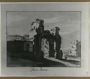 Rome, ruïnes van de grote zaal van de Thermen van  Caracalla