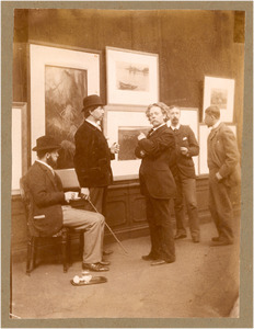 Groepsportret, Commissie van Beheer over de Kunstzalen van Arti et Amicitiae, 1893: vlnr. G. Poggenbeek, N. Bastert, F.M. Heyl, J.S.H. Kever en G.H. Breitner
