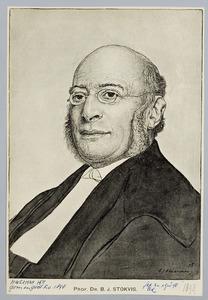 Portret van Prof. Dr. B.J. Stokvis