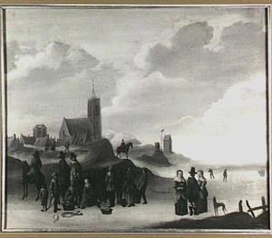Strandgezicht bij Egmond aan Zee