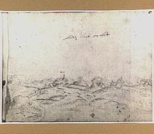 Duinlandschap met dorp in Noord-Holland