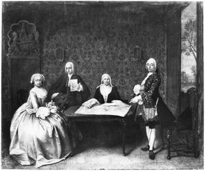 Portret van Jan Frederik Bachman (1720-1774) en zijn familie