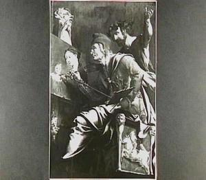 De H. Lucas schilderend (rechtergedeelte van het altaarstuk 'De H. Lucas schildert de Madonna')