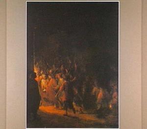 Christus wordt naar het huis van de hogepriester gebracht