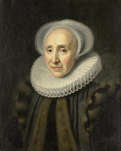 Portret van Volckera Claesdr. Knobbert (1554-1634), echtgenote van Paulus Cornelisz. van Beresteyn
