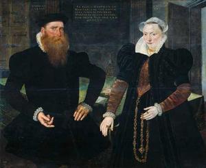 Dubbelportret van Gilles Hooftman (1521-1581) en Margaretha van Nispen (?-1598)