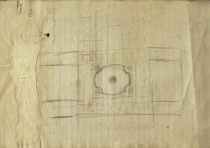 Interieurontwerp (detail): plafondontwerp, ca. 1917