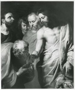 Christus overhandigt Petrus de sleutels tot de hemelpoort