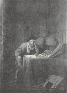 Astronoom in zijn werkkamer