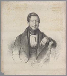 Portret van een man, waarschijnlijk Willem van der Goes (1809-1841), of mogelijk zijn tweelingbroer Ewout Julius van der Goes (1809-1845)