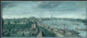 Amsterdam, gezicht op de Amstel vanuit het zuiden