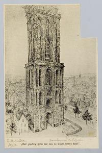 Stadsgezicht met Domtoren te Utrecht