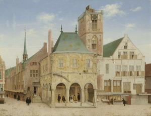 Het oude stadhuis aan de Dam te Amsterdam