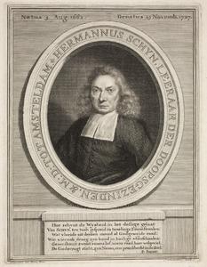 Portret van Hermannus Schijn (1662-1727)