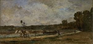 Jaagpad aan de oevers van de Oise