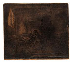 De H. Hieronymus in een donkere kamer