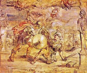 Achilles overwint Hector