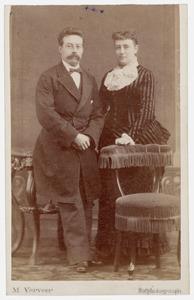 Portret van Edmund Wiselius (1846-1893) en Susanna Ekama (1852-1907)