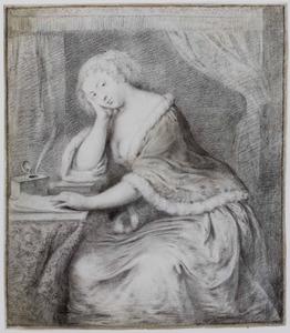 Vrouw in een interieur