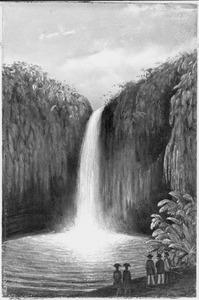 Reis van Suez naar Nagasaki via Oost-Indië: Waterval bij Bandong