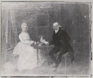 Portret van Nicolaas Wilhelmus Buddingh (1749-1835) en Bartha Maria de Roo (1761-1837)