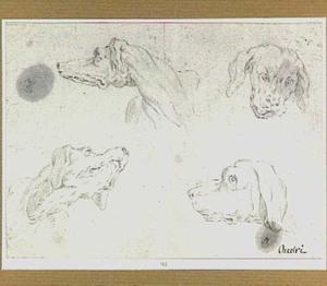 Vier hondenkoppen