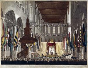 De inhuldiging van koning Willem I (1772-1843) als soeverein vorst, 30 maart 1814