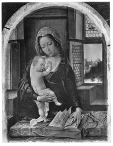 Maria met kind en gebedenboek