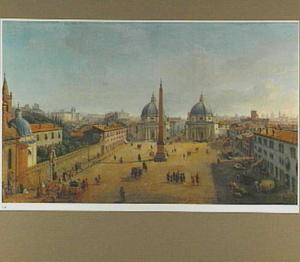 Gezicht op de Piazza del Popolo in Rome