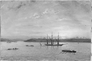 Reis van Suez naar Nagasaki via Oost-Indië: Gezicht op Riouw