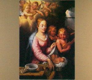 Maria met het kind en engelen