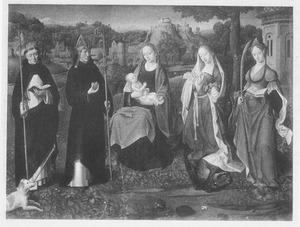 Maria met kind en de heiligen Dominicus, Augustinus, Margaretha en Barbara