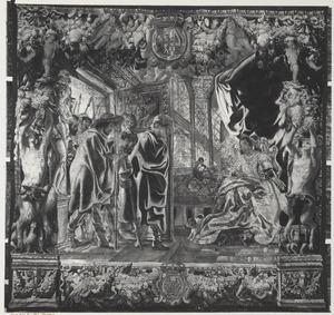 Telemachus leidt Theoklymenus naar zijn moeder Penelope