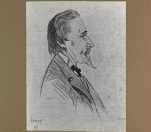 Karikatuur van de schilder Paul Joseph Constantin Gabriel
