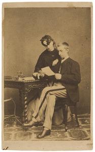 Portret van Jeannette Gabrielle Rengers Hora Siccama (1844-1925) en Daniel Bonifacius van der Haer (1845-1877)