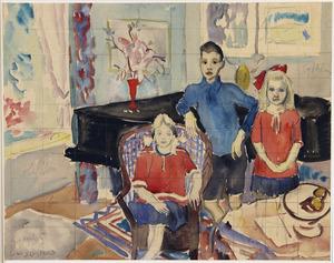 Studie voor Familieportret van de kinderen Van Blaaderen-Hoogendijk