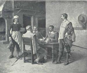 Kaartspelende soldaten