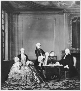 Portret van Gerard Deutz (1699-1759), Esther Aagje van den Bempden (1705-1768) en hun zoon Jean Deutz (1743-1784)