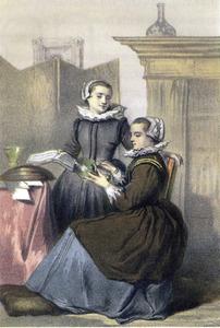 Portret van twee vrouwen, ten onrechte genaamd Anna Roemersdr. Visscher (1583-1651) en Maria Tesselschade Roemersdr. Visscher (1594-1649)