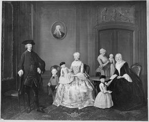 Groepsportret van Gerard Abraham van den Ende (1726-1788) en zijn familie