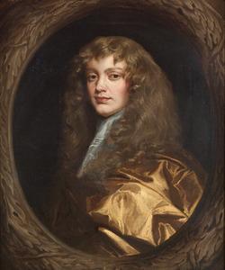 Portret van een man met lang krullend haar