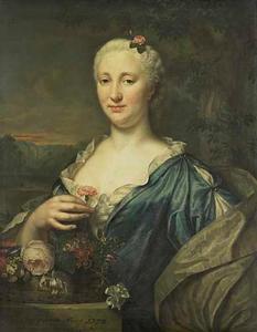 Portret van Agnes Margaretha Albinus (1713-1773)