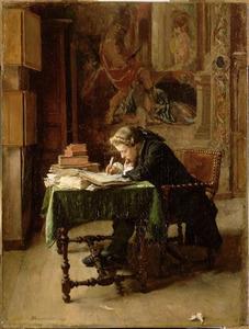 Jonge schrijvende man