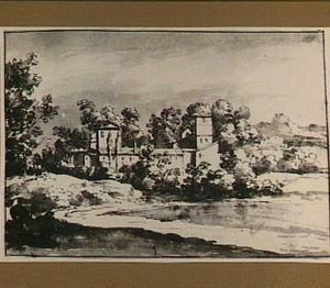 Heuvellandschap met Italiaans klooster