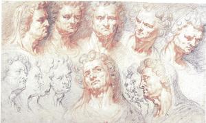 Studies van de kop van een Romeinse keizer