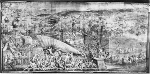 Landing bij de Kaap van Carthago door het leger van Karel V op weg naar Tunis