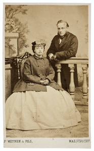 Dubbelportret van Jacoba Catharina Adriana van Hoven (1839-1914) en Johannes Diederik Tilanus (1835-1918)